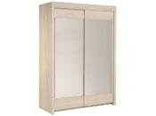 "Armoire 2 portes ""Soft"" - 156 x 61 x 217 cm - Coloris acacia"