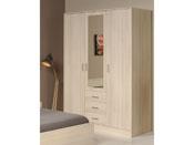 "Armoire 3 portes ""Soft"" - 148 x 55 x 202 cm - Coloris acacia"