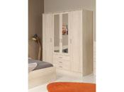 "Armoire 4 portes ""Soft"" - 176 x 55 x 202 cm - Coloris acacia"