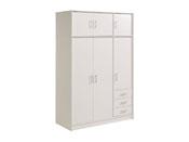 """Armoire 3 portes """"Soft"""" - 130 x 55 x 195 cm - Coloris blanc"""