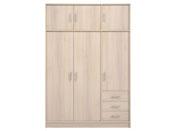 "Armoire 3 portes ""Soft"" - 130 x 55 x 195 cm - Coloris acacia"