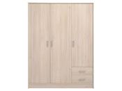 "Armoire 3 portes ""Soft"" - 133 x 50 x 180 cm - Coloris acacia"