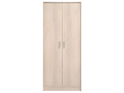 "Armoire 2 portes ""Soft"" - 75 x 34 x 181 cm - Coloris acacia"