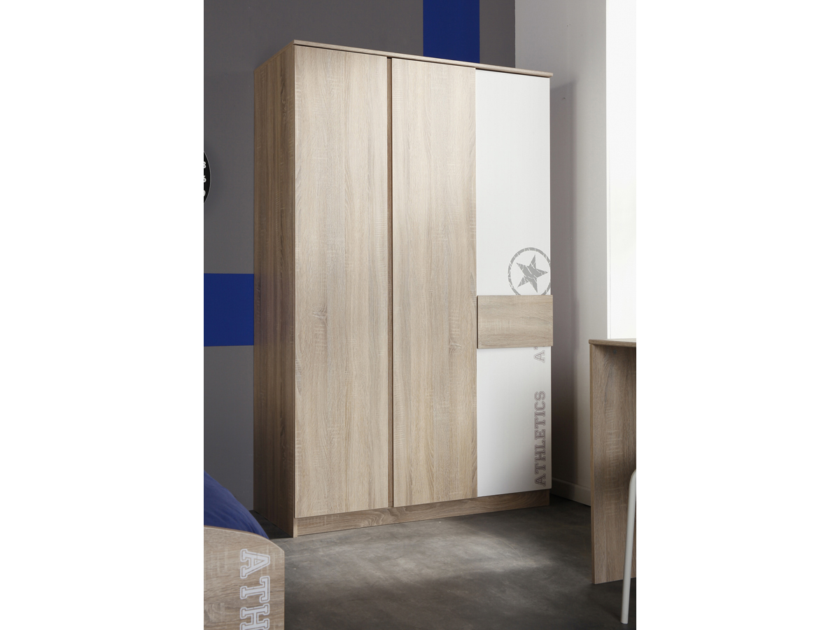 Armoire Fight - 182 x 114 x 52 cm - 3 portes