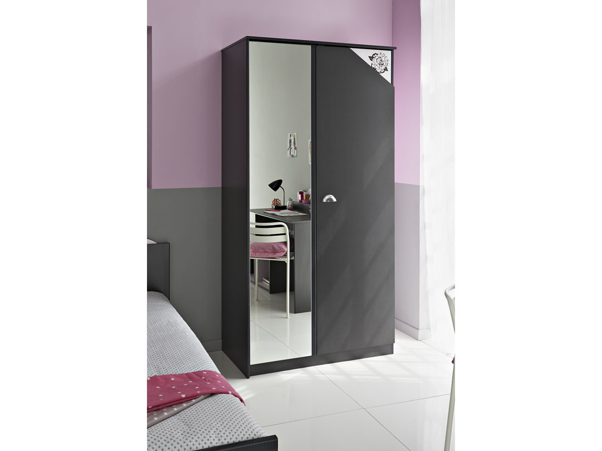 Armoire chambre rose   baccara cuisines