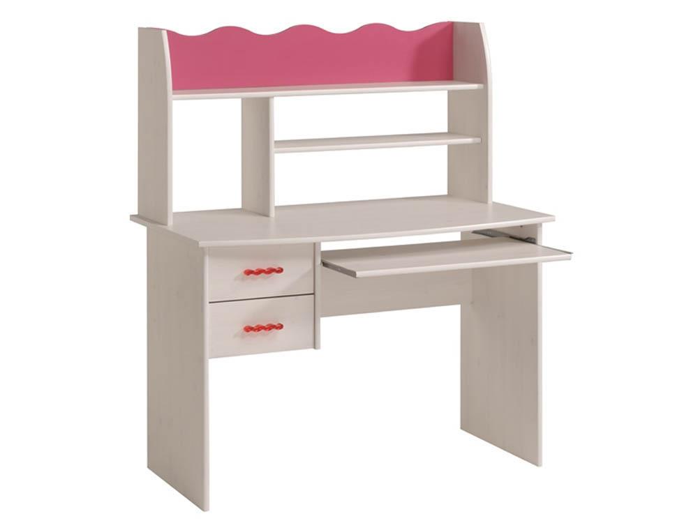 Bureau Doll - En panneaux de particules - 2 étagères, 2 tiroirs et 1 niche