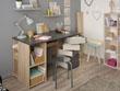 """Bureau """"Clever"""" - 128 x 76 x 60 cm - Coloris chêne/gris"""