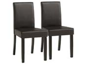 "Lot de 2 chaises ""Peter""- Marron"