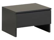 """Chevets """"Blick"""" noirs - 44.5 x 33.5 x 29 cm - Lot de 2"""