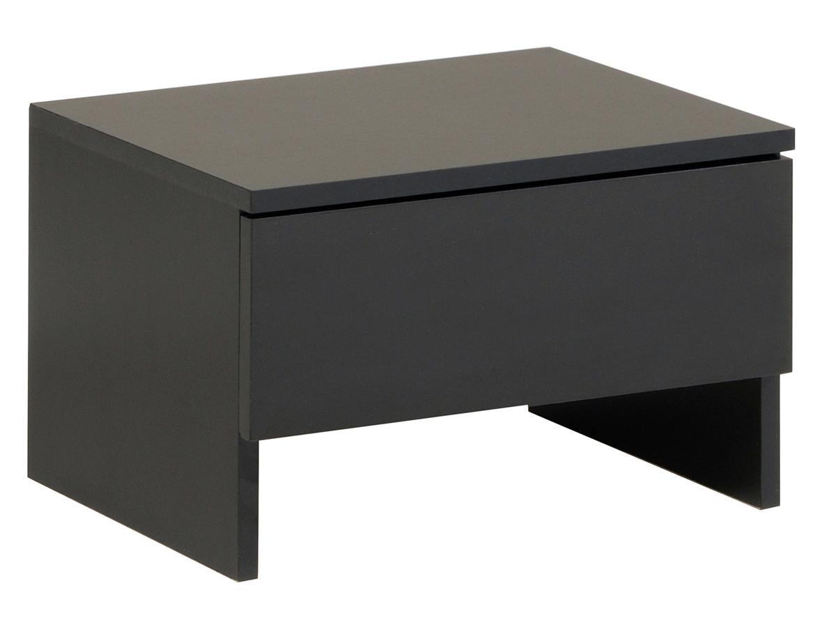 Chevet Blick - 44.5 x 33.5 x 29 cm - Noir - Lot de 2