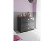"Commode ""Rock"" - 95 x 45 x 78 cm - Gris/rose"
