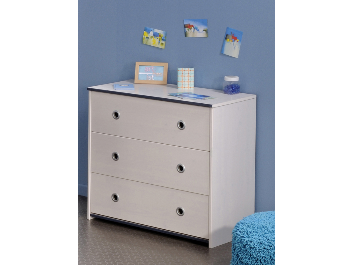 Commode Zoomy - 79 x 75 x 41 - Blanc
