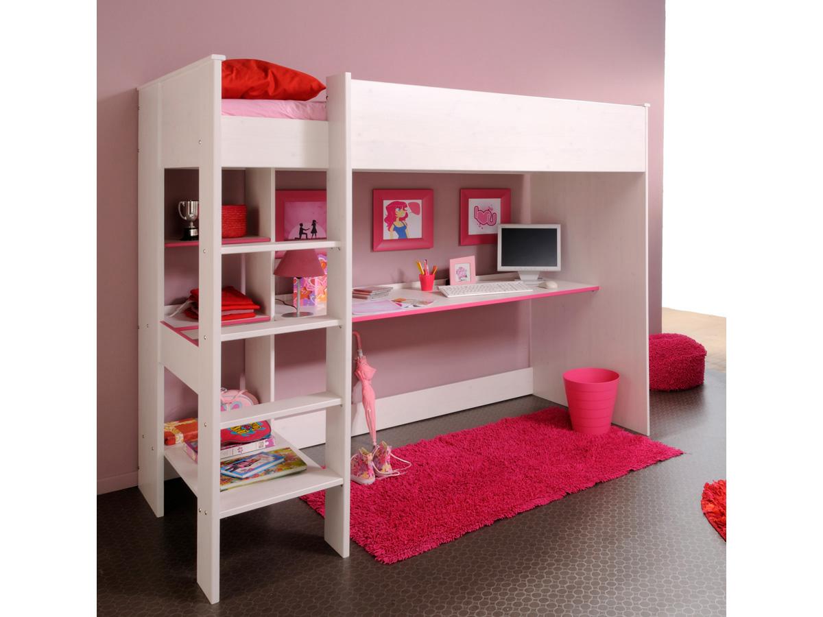 Lit mezzanine fille avec bureau lit mezzanine flexa avec - Lit avec bureau pour fille ...