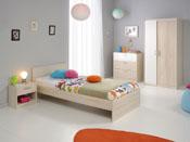 """Lit enfant """"Nougat"""" - 98 x 193 x 67 cm - Coloris acacia"""