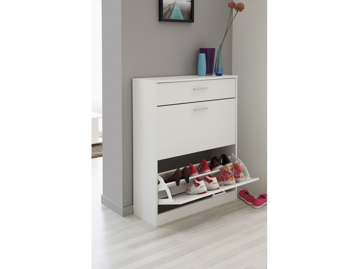 meuble chaussures soft 80 x 29 x 100 cm blanc 82047 82238. Black Bedroom Furniture Sets. Home Design Ideas