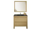 "Meuble vasque + vasque + miroir ""Arwan"" - 90 x 50 x 84 cm"