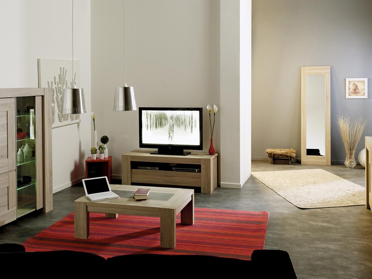 Meuble TV Matias - 142.7 x 48.8 x 51.4 cm - Chêne
