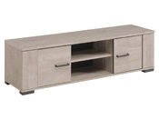 "Banc TV ""Travel"" - 150,5 x 40 x 43 cm - Coloris gris"