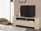 "Meuble TV ""Karina"" - 140 x 44 x 48 cm - Chêne/Béton"