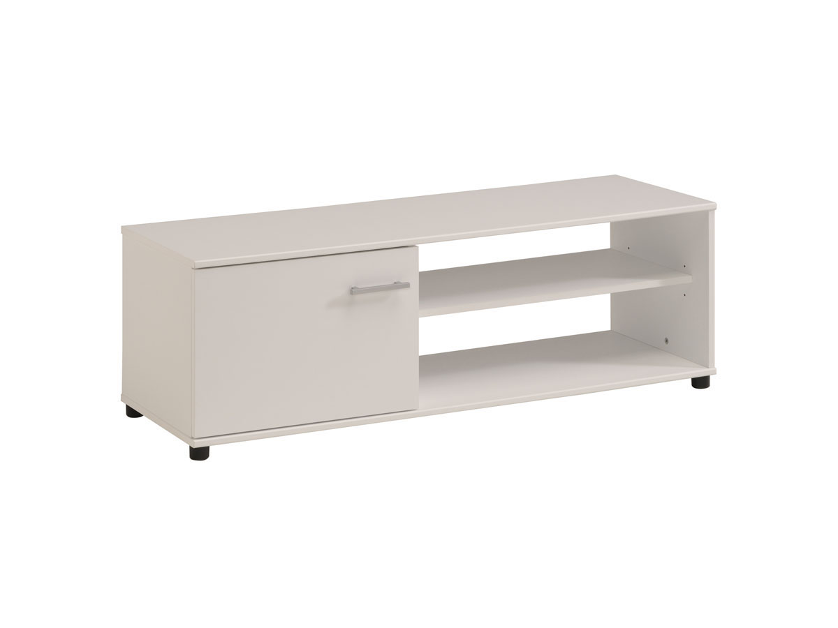 Meuble TV Soft - 121 x 40 x 41 cm - Blanc