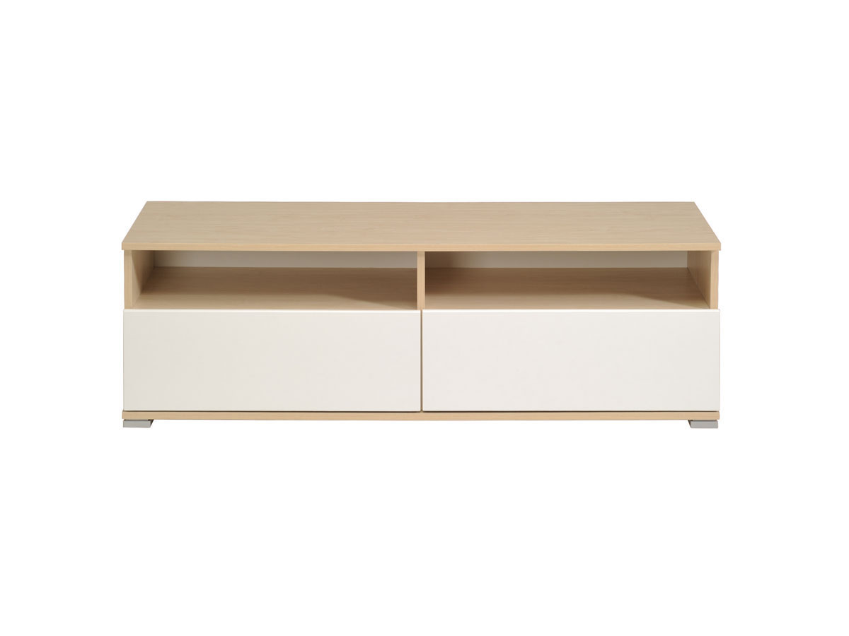 Banc TV River - 121 x 40 x 40 cm - Erable/Blanc