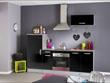 """Ensemble cuisine """"Allegra"""" - 2.4 x 0.6 x 2.05 m - Coloris noir"""