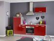 """Ensemble cuisine """"Allegra"""" - 2.4 x 0.6 x 2.05 m - Coloris rouge"""