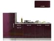 """Ensemble cuisine """"Allegra"""" - 2.4 x 0.6 x 2.05 m - Coloris aubergine"""