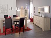 """Table repas """"Matias""""- 240 x 90 x 79 cm - Coloris chêne"""