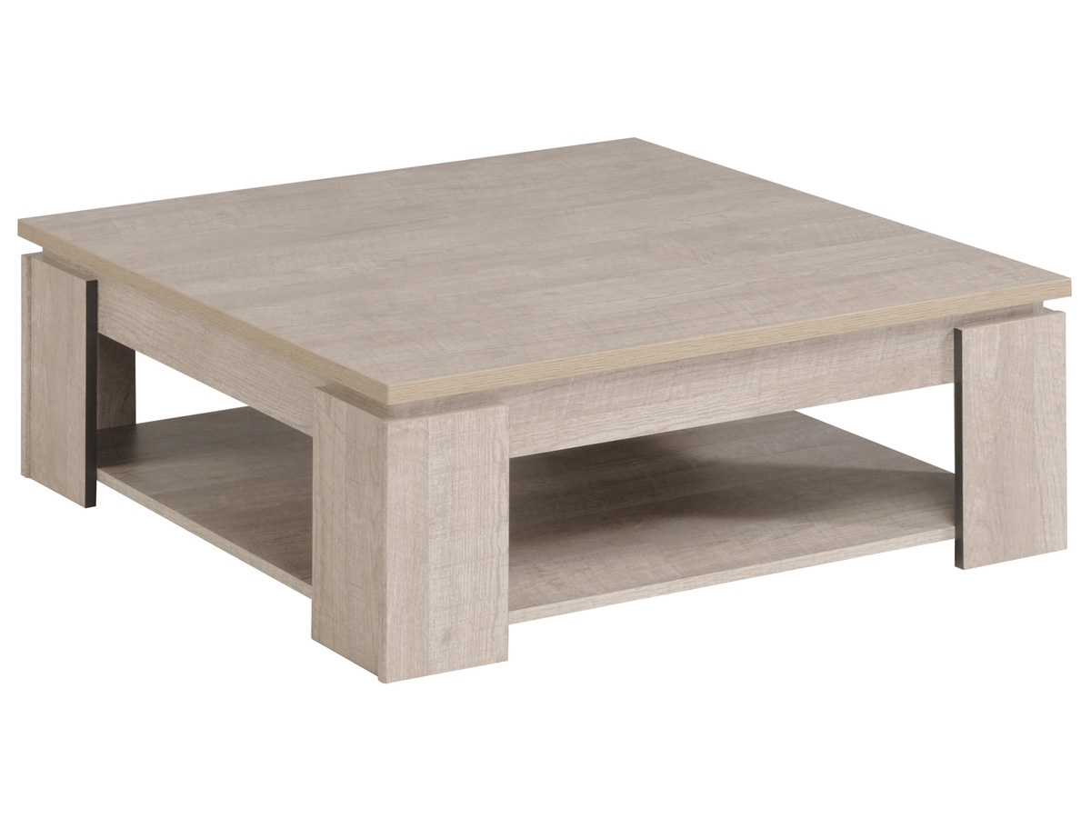 Table basse Travel - 86,1 x 86,1 x 32,5 cm - Gris