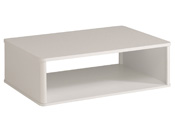 "Table basse ""Ciri"" - 99,8 x P. 67,7 x H. 34,8 cm - Blanc brillant"