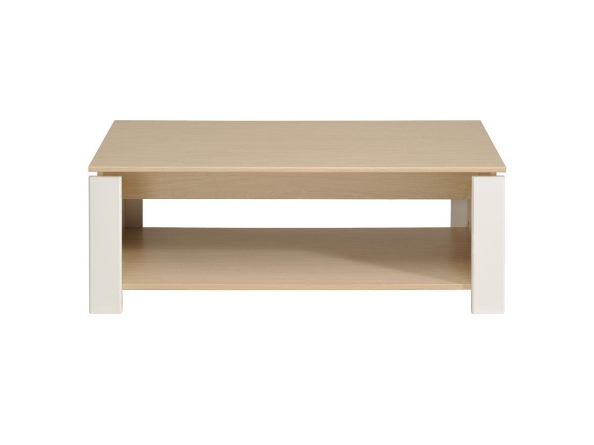 Table basse River - 108 x 59 x 41 cm - Érable/Blanc