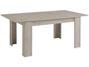 """Table repas """"Lune"""" - 155-190 x 100 x 76 cm - Coloris Gris"""