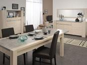 "Table repas ""Karina"" - 180 x 90 x 78 cm - Coloris chêne/béton"