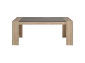 """Table repas """"Break"""" - 177 x 91 x 75 cm - Coloris chêne/béton"""