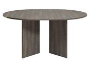 """Table repas ronde extensible """"Wool"""" - 109/145 x 109 x 75 cm - Réglisse"""