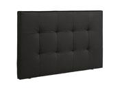 """Tête de lit """"Curie"""" - 167 x 101 x 8 cm - Coloris noir"""