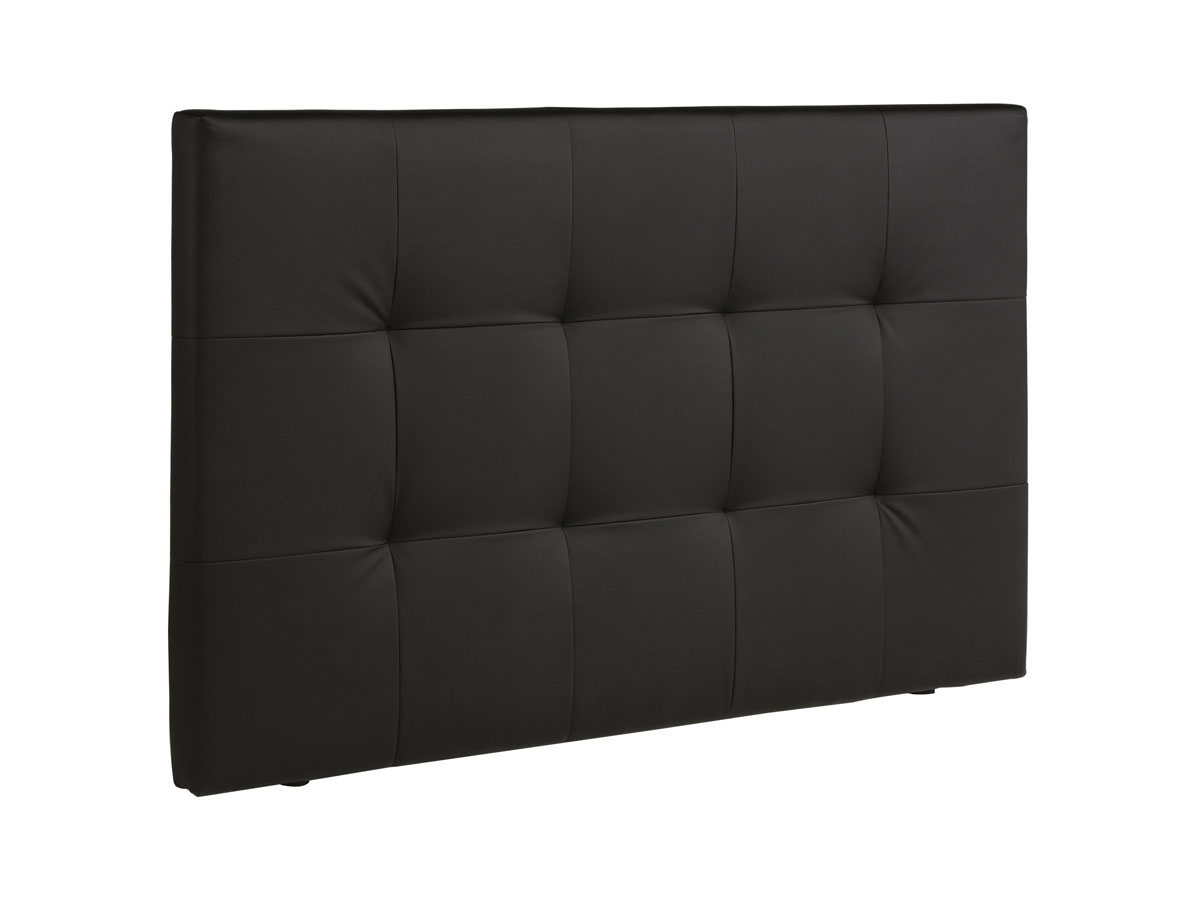t te de lit curie 167 x 101 x 8 cm coloris noir 82350 82351. Black Bedroom Furniture Sets. Home Design Ideas