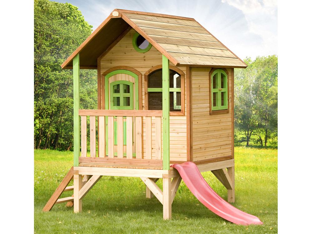 Jeux cabane bois for Exterieur habitat 85