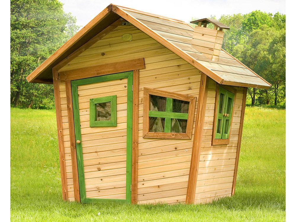 Cabane enfant bois alice x x m 35730 for Plan cabane en bois
