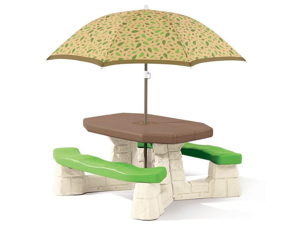 Table de jardin Picnic avec parasol