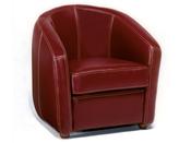 """Fauteuil cuir """"Ponza"""" - 75 x 75 x 84 cm - Rouge"""