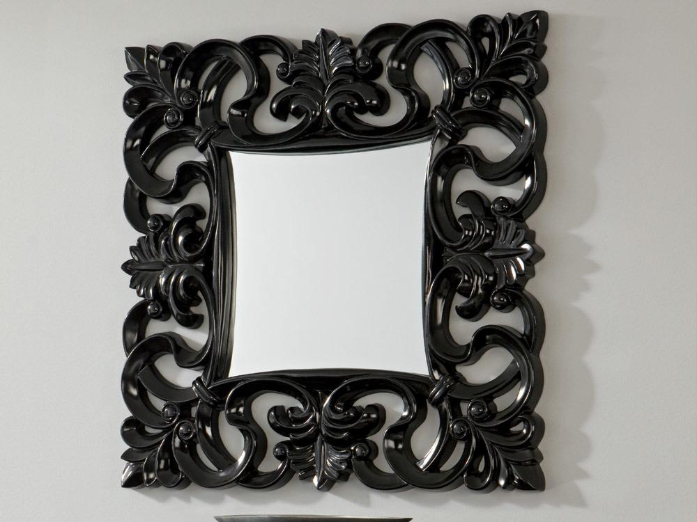 Miroir Carla polyuréthane - 100 x 100 cm - Noir