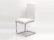 "Lot de 2 chaises ""Angel"" - 55 x 45 x 96 cm - Coloris blanc"