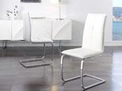 """Lot de 2 chaises """"Bell"""" - 46 x 54 x 102 cm - Coloris blanc"""