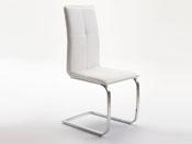 """Lot de 2 chaises """"Bell"""" - 46 x 54 x 102 cm - Coloris argent"""
