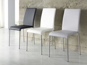 "Lot de 4 chaises ""Claudia"" - 47 x 55 x 85 cm - Coloris blanc"