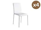 "Lot de 4 chaises ""Claudia"" - Blanc"