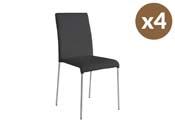 """Lot de 4 chaises """"Claudia"""" - Noir"""