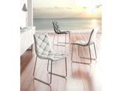 """Lot de 4 chaises """"Andréa"""" - 51 x 60 x 86 cm - Coloris blanc"""